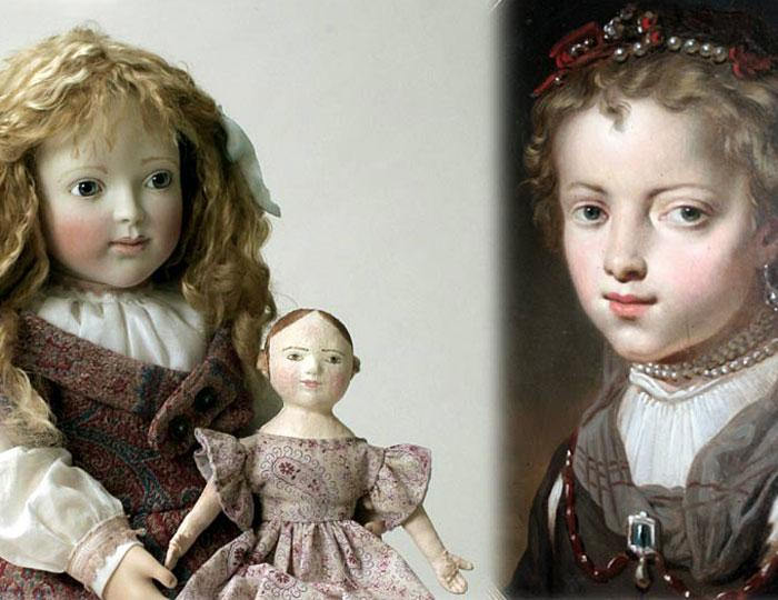 1850's Olivia with her Izannah doll