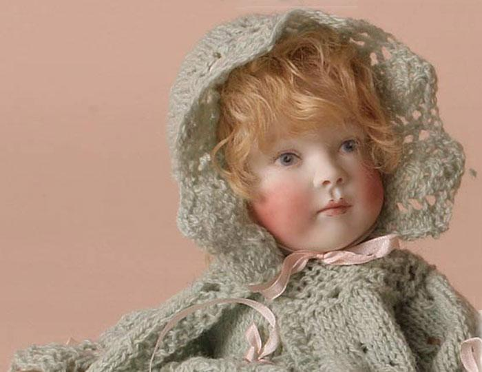 Bonnie Baby in lacy knit
