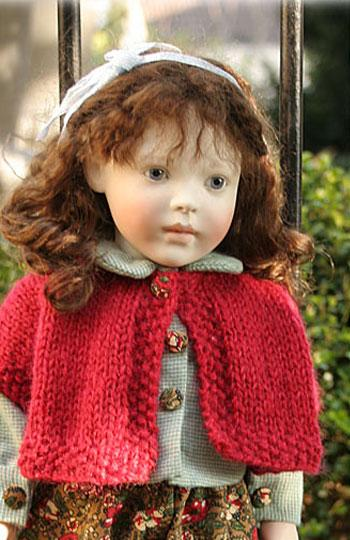 Red wool shrug.