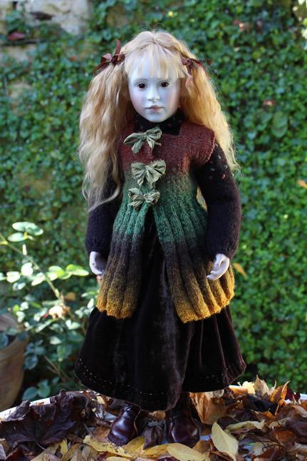Lillian in dark velvet skirt