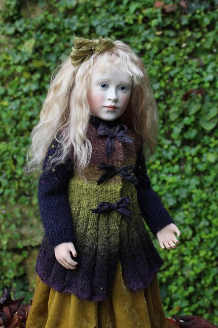 Lillian in her knitted waistcoat